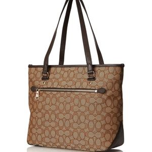 Coach Women's Otl Signature Zip Tote/Purse